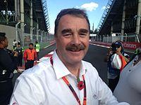 Mansell ind forbindelse med Mexikos Grand Prix 2015.
