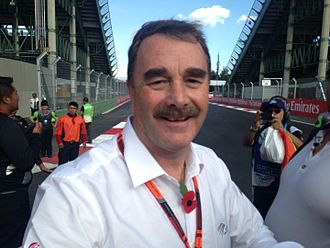 Nigel Mansell - Mansell at the 2015 Mexican Grand Prix.