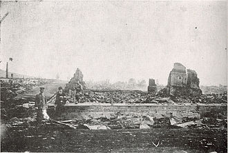 Nikolayevsk incident - The ruin of Nikalayevsk after the massacre (June 1920).