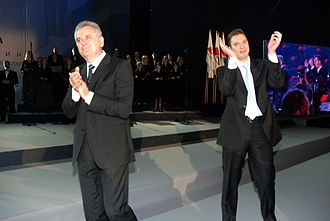 Serbian Progressive Party - Tomislav Nikolić and Aleksandar Vučić at the SNS founding convention on 21 October 2008.