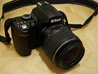 Nikon D40 with standard kit lens AF-S DX 18-55...