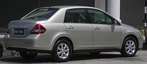 Nissan Tiida - Pre-facelift Nissan Latio sedan (Malaysia)