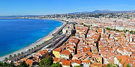 Panoramic view of the old city and the Promenade des Anglais