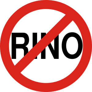 "English: Crude drawing of the ""No RINO&qu..."