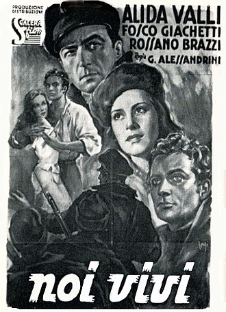 We the Living (film) - Italian poster for Noi vivi