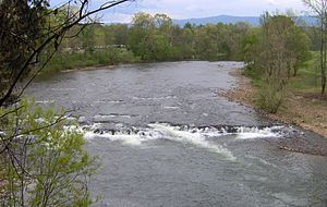 David Crockett Birthplace State Park - Shoals along the Nolichucky River, downstream from the Crockett birth site