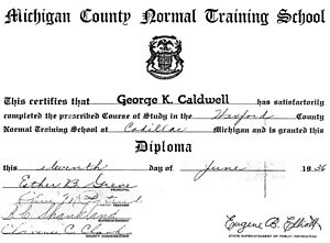 Normal school - Diploma from a normal school in the U.S.