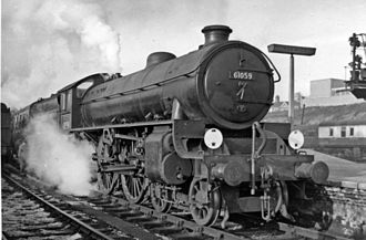 LNER Thompson Class B1 - 61059 at Norwich Thorpe, January 1958.