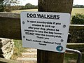 Notice to dog walkers - geograph.org.uk - 1625631.jpg