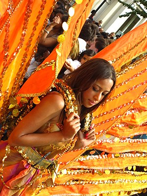 Notting Hill Carnival - Young girl parading on...