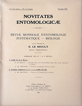 Image illustrative de l'article Novitates Entomologicae