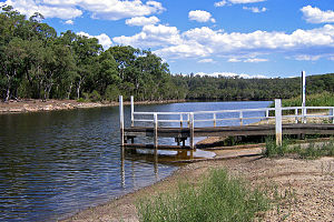 Nowa Nowa, Victoria - Boat ramp on the upper reaches of the Lake Tyers arm near the junction with Boggy Creek