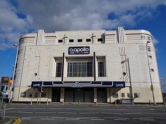 O2 Apollo Manchester - Facade of Manchester Apollo, 2015