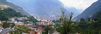 Odda (town) - View of the town