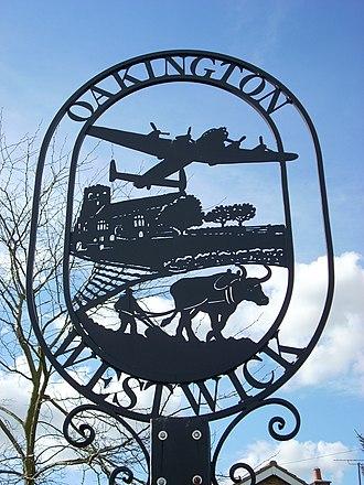 Oakington - Image: Oakington Village sign