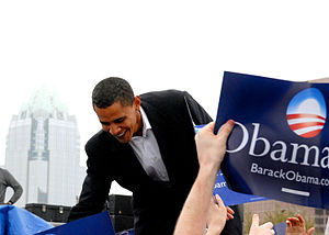 English: Sen. Barack Obama in Austin, TX