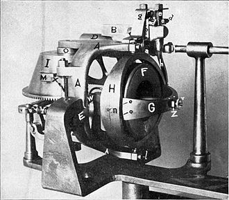 Whitehead Mark 3 torpedo - Obry gyroscopic gear installed in the Mark 3; the gyroscope itself is labelled F, G and H
