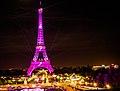 Octobre rose pour le cancer du sein - Pink Eiffel tower, Tour Eiffel en rose - National Breast Cancer Awareness Month (21607818590).jpg