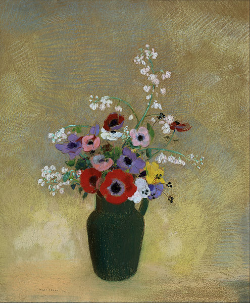 File:Odilon Redon - Large Green Vase with Mixed Flowers - Google Art Project.jpg