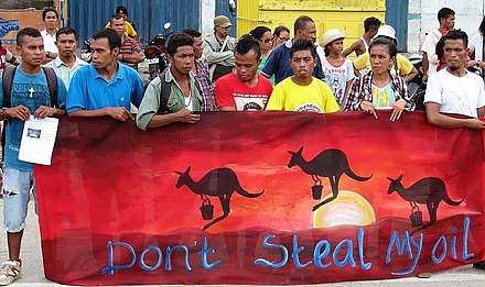 Demonstration against Australia on December 2013 Oil demo Timor 2013.JPG