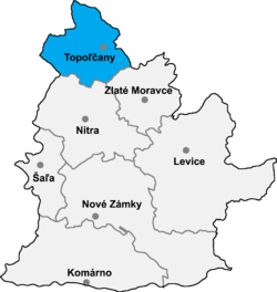 Location of Topoļčanu apriņķis