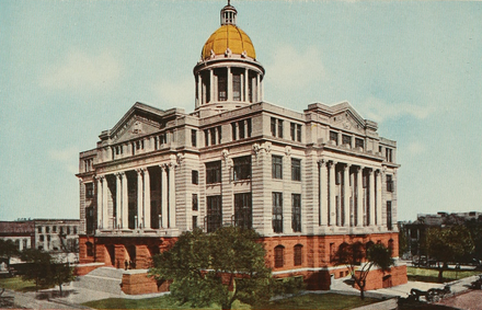 The Harris County Courthouse in Houston, in 1913. OldHarrisCountyCourthouse.png