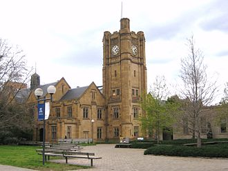 University of Melbourne - Old Arts Building (1919-1924) in Parkville Campus of University of Melbourne.