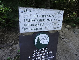 Bridle path - Sign for Old Bridle Path trail in New Hampshire, U.S. - which no longer allows horses.