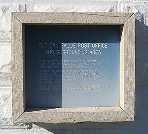 Old Eau Gallie Post Office - Image: Old Eau Gallie Post Office Historical Marker 1