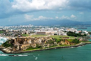 Old San Juan - Aerial view of Castillo San Felipe del Morro and Old San Juan
