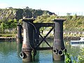 Old bridge piers at the entrance to Hooe Lake - geograph.org.uk - 1555004.jpg