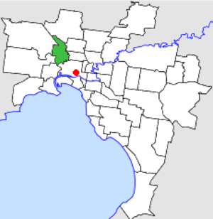 City of Essendon - Location in Melbourne