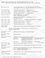 Olympia-Spielprogramm DFB 1972-1