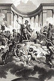 Οι Δώδεκα Ολύμπιοι, έργο του Monsiau, 18ος αιώνας.