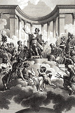 The Twelve Olympians by Monsiau (late 18th cen...