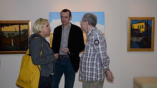 Opening Exhibition of Valera Pesin's paintings 19.09.2014 with Wife in LaSandr-Art Gallery Minsk.JPG