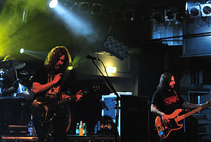 Opeth - Mikael Åkerfeldt and Martín Méndez live in 2008.