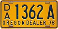 Oregon Dealer License Plate - Gold 1978.jpg