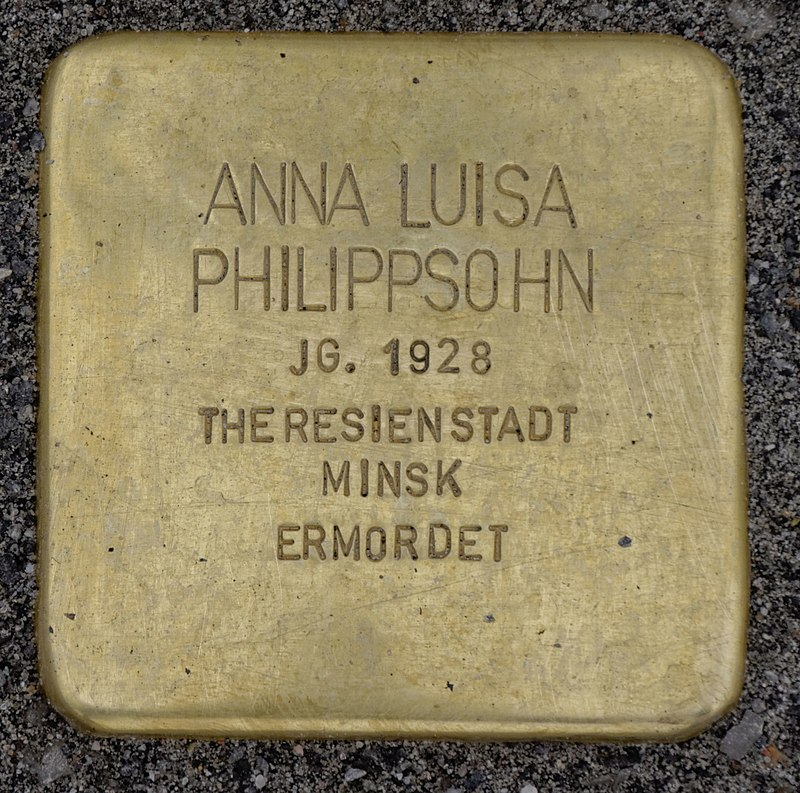Osten (Oste) Stolperstein Philippsohn, Anna Luisa