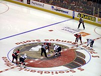 Ottawa v Tampa Bay faceoff April 22 2006.jpg