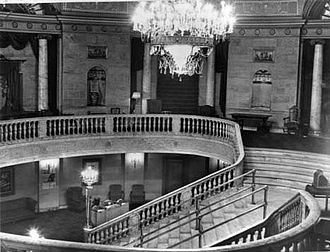 Mezzanine - View of the mezzanine in the lobby of the former Capitol Cinema, Ottawa, Ontario, Canada