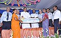 P. Chidambaram handing over the financial assistance to Self Help Group members, at the inauguration of the Kanadukathan branch of Indian Bank, in Sivaganga district, Tamil Nadu. The MLA, Shri K.R. Periyakaruppan, the CMD.jpg