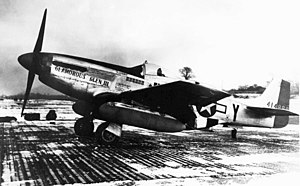 Chuck Yeager - P-51D-20NA, Glamorous Glen III, is the aircraft in which Yeager achieved most of his aerial victories.