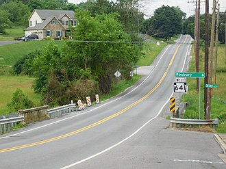 Pennsylvania Route 641 - PA 641 westbound in Newburg