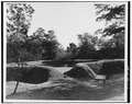 PERSPECTIVE VIEW OF EARTHEN RAMPARTS AFTER RECONSTRUCTED - Fort Raleigh, Fort, U.S. 64-264, Manteo, Dare County, NC HABS NC,28-MANT.V,1-D-2.tif