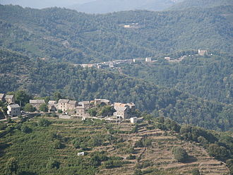 Cuisine of Corsica - Panorama of Castagniccia: The Genoese rule changed drastically the landscape of large parts of the island, introducing chestnut on large scale.