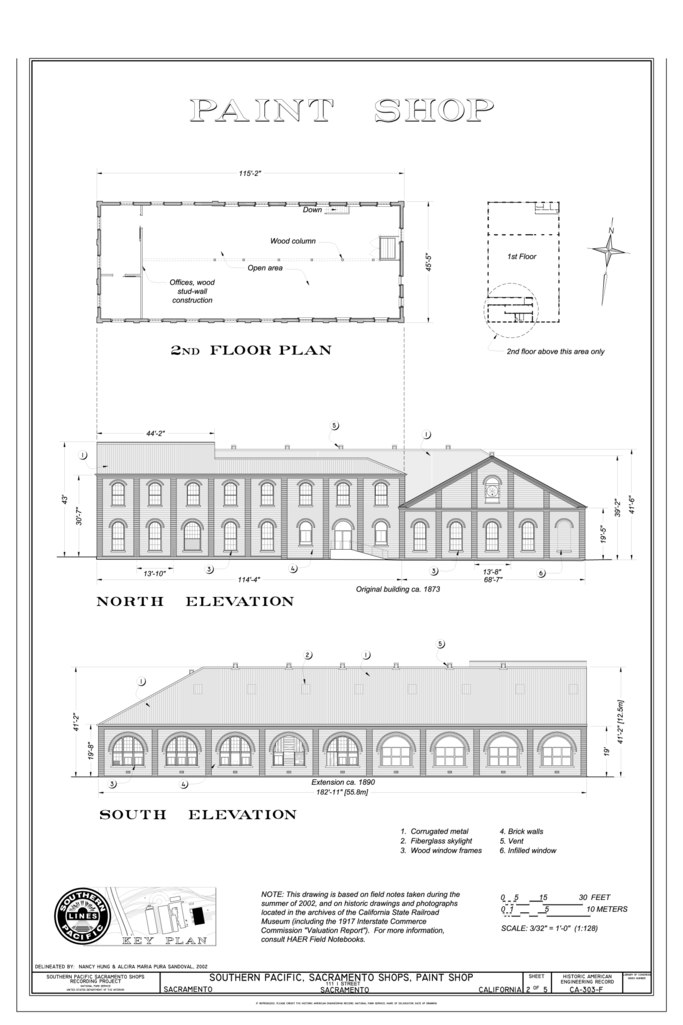 2nd Floor Elevation Design : File paint shop nd floor plan north elevation south