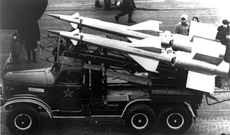 S-125 Neva/Pechora - A pair of S-125 missiles in transit.
