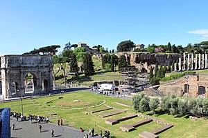 Palatine Hill - Palatine Hill from Colosseum