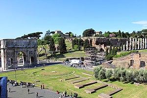 Palatine Hill - Palatine Hill from Colosseum